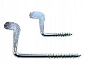 Крюк-шуруп L-образный, изогнутый
