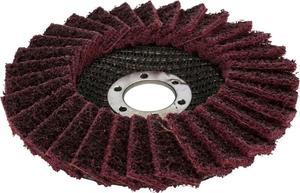 Круг лепестковый шлифовальный войлочный, абразивный 125*22 мм