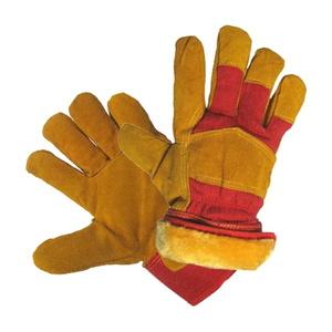Перчатки утепленные спилковые