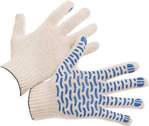 Перчатки хлопчатобумажные с ПВХ Волна Люкс