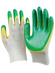 Перчатки трикотажные с двойным латексом