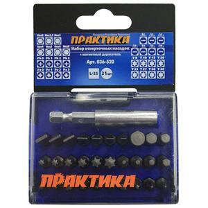 Набор бит: PH  PZ  SL  Torx  Hex  25 мм + магнитный держатель 31 шт