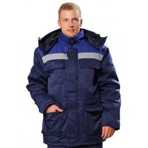 Куртка мужская зимняя Север темно-синий/серый