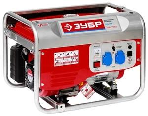 Генератор бензиновый/газовый ЗУБР ЗЭСГ-2500 2500W, 10A, 2x220V+12V, 15л, 40кг,  бак на 10/5 часов