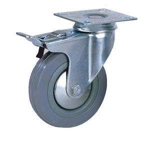 Колесо аппаратное поворотная платформа c тормозом тип SCgb