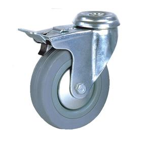 Колесо аппаратное поворотное под болт с тормозом тип SChgb