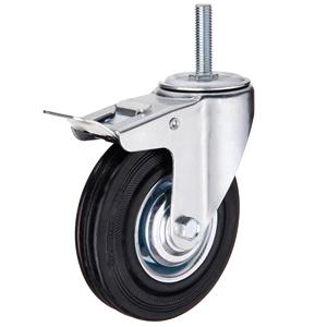 Колесо промышленное поворотное с болтом с тормозом тип SCtb